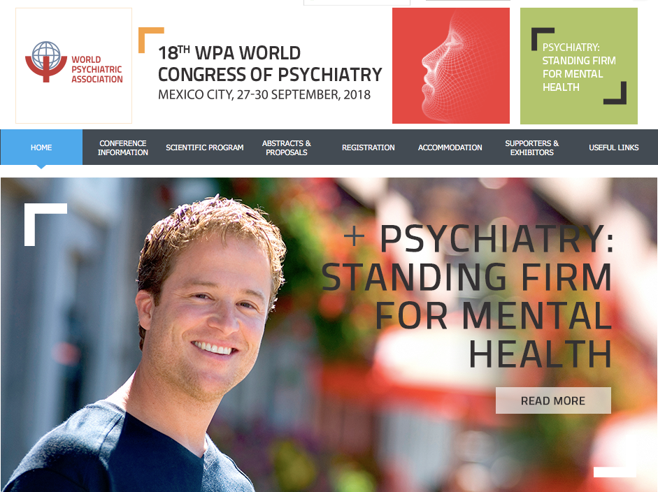 18th WPA World Congress of Psychiatry. Mexico City (Mexico), 27-30 Settembre 2018.