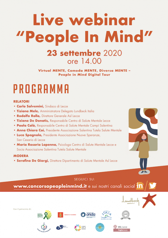 "Live webinar: ""People in Mind"" - 23 settembre 2020"